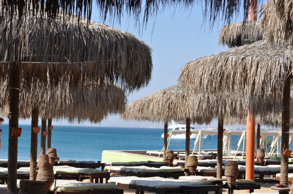 A beach in Hurghada, Egypt