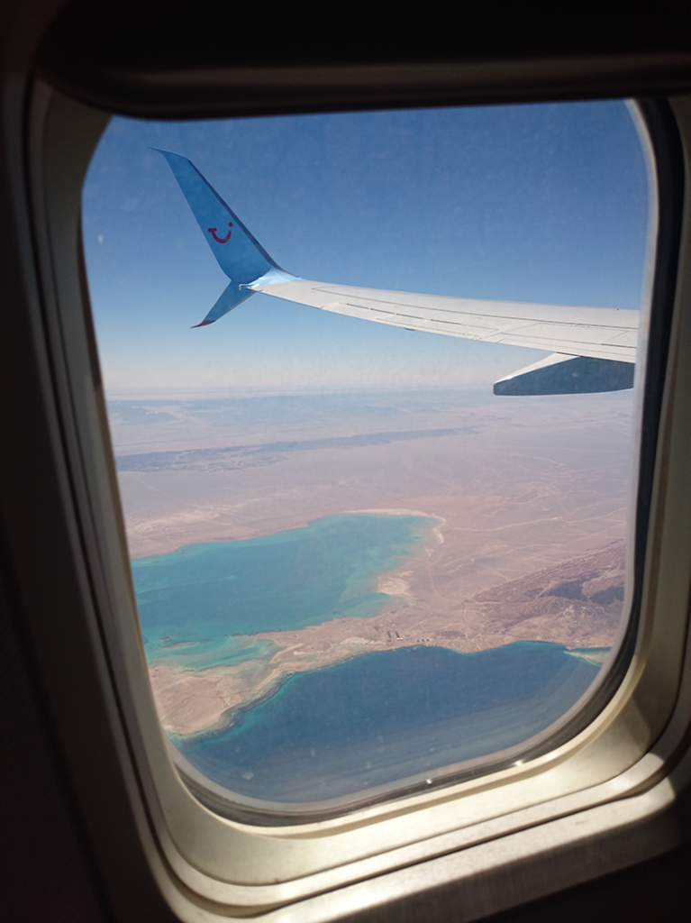 View of Egypt from plane